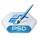 128x128px size png icon of Adobe photoshop psd