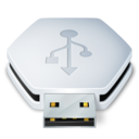 128x128px size png icon of Drive USB Removable