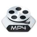 128x128px size png icon of Media video mp 4