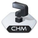 128x128px size png icon of Misc file chm