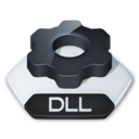 128x128px size png icon of Misc file dll