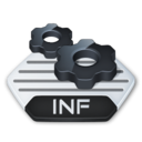 128x128px size png icon of Misc file inf