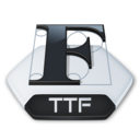 Misc file ttf Icon