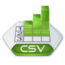 128x128px size png icon of Office excel csv