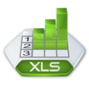 128x128px size png icon of Office excel xls