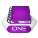 128x128px size png icon of Office onenote one