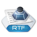 128x128px size png icon of Office word rtf