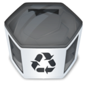 128x128px size png icon of System trash full
