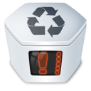 128x128px size png icon of System trash v2 full