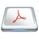 128x128px size png icon of Adobe Reader