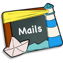 128x128px size png icon of Mails