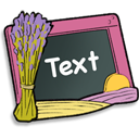 128x128px size png icon of Text