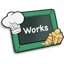 128x128px size png icon of Works