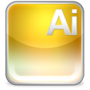 128x128px size png icon of ai eps