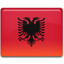 128x128px size png icon of Albania Flag