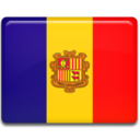 128x128px size png icon of Andorra Flag