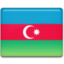 128x128px size png icon of Azerbaijan Flag