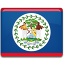 128x128px size png icon of Belize Flag