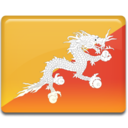 128x128px size png icon of Bhutan Flag