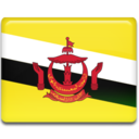 128x128px size png icon of Brunei Flag