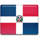 128x128px size png icon of Dominican Republic Flag