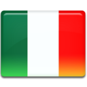 128x128px size png icon of Italy Flag