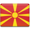 128x128px size png icon of Macedonia Flag