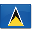 128x128px size png icon of Saint Lucia Flag