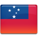 128x128px size png icon of Samoa Flag