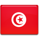 128x128px size png icon of Tunisia Flag