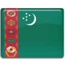 128x128px size png icon of Turkmenistan Flag