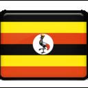 128x128px size png icon of Uganda Flag