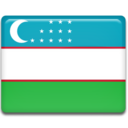 128x128px size png icon of Uzbekistan Flag
