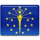 128x128px size png icon of Indiana Flag