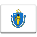 128x128px size png icon of Massachusetts Flag