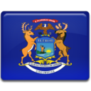 128x128px size png icon of Michigan Flag