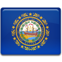128x128px size png icon of New Hampshire Flag