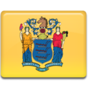 128x128px size png icon of New Jersey Flag
