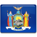 128x128px size png icon of New York Flag