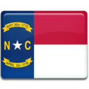 128x128px size png icon of North Carolina Flag