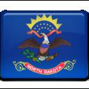 128x128px size png icon of North Dakota Flag