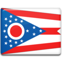 128x128px size png icon of Ohio Flag