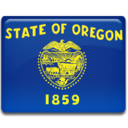 128x128px size png icon of Oregon Flag