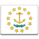 128x128px size png icon of Rhode Island Flag