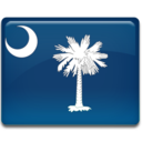 128x128px size png icon of South Carolina Flag