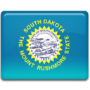 128x128px size png icon of South Dakota Flag