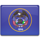 128x128px size png icon of Utah Flag
