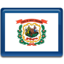 128x128px size png icon of West Virginia Flag
