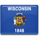 128x128px size png icon of Wisconsin Flag