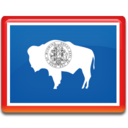 128x128px size png icon of Wyoming Flag